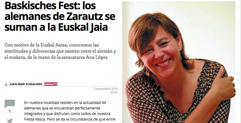 TippTopp Academia de Alemán, en el Diario Vasco