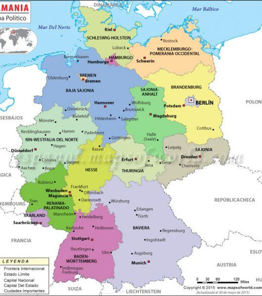 Los 16 landers alemanes y sus principales ciudades