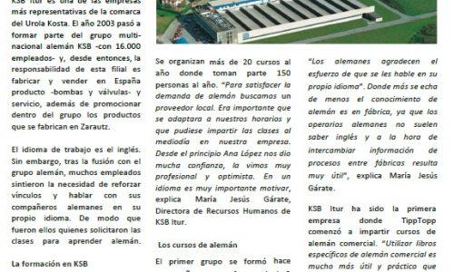 """""""Saber alemán ha mejorado las relaciones con los compañeros de otras fábricas"""""""